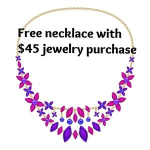 Free necklace with $45 jewellery purchase